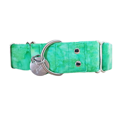 Pickles green tie dye martingale collar