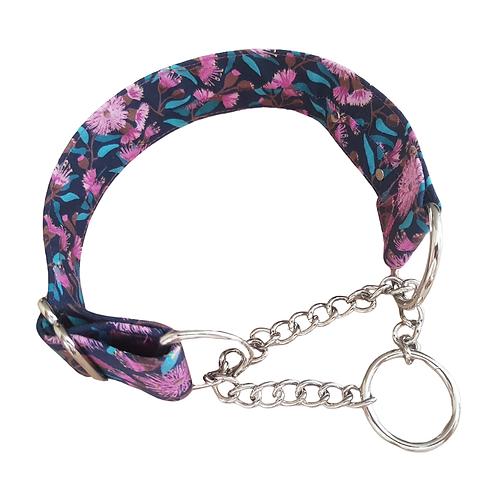Pink Australian native chain martingale collar
