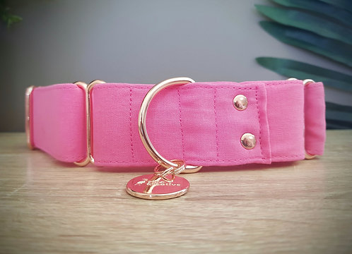 Bubblegum pink martingale dog collar