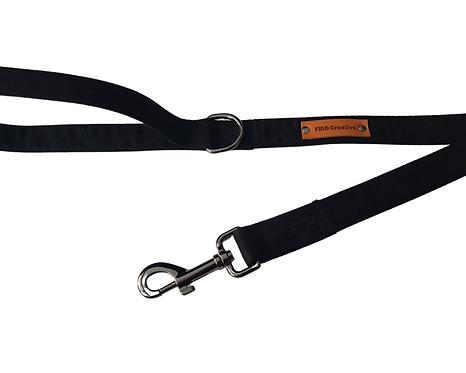 Nior black dog leash, lead
