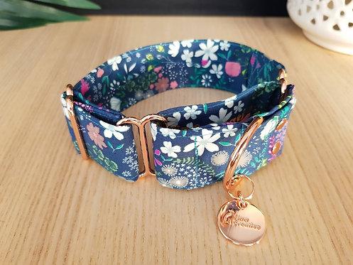 Flower Hound martingale dog collar