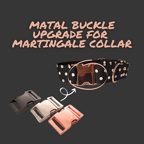 Metal quick release buckle upgrade for martingale collar