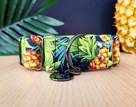 Pineapple martingale dog collar