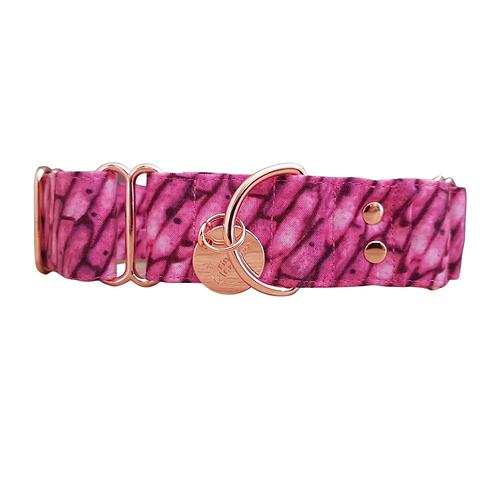 Pink pebbles martingale dog collar