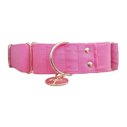 Bubble gum pink martingale collar