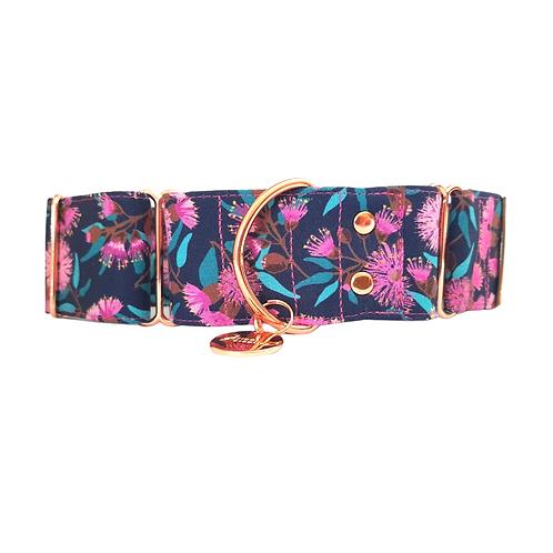 Pink Australian native martingale dog collar