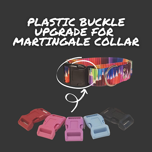 Plastic quick release buckle upgrade for martingale collar