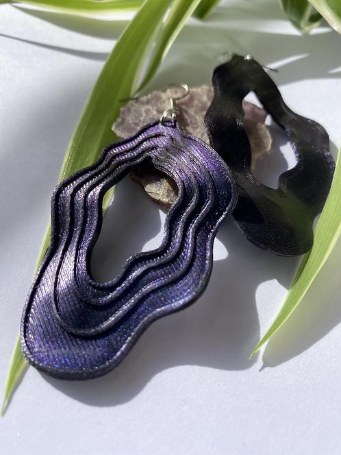 Pendientes Mármol color azul