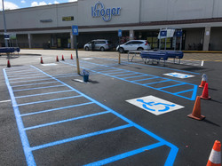paint stripes and ADA markings by Evans Asphalt and Concrete