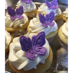 Instagram - Purple Butterfly cupcakes. Www.Specialtysweetc