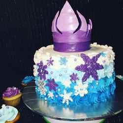 Frozen iced cake. Www.Specialtysweetc