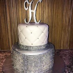 Instagram - 2 tiered Blazing bling cake. Www.specialtysweetc.com