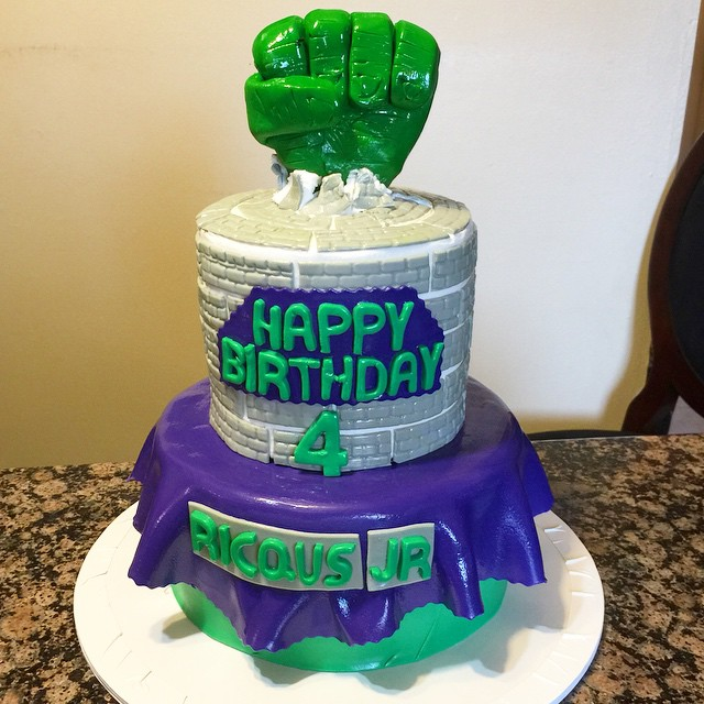 Instagram - Incredible Hulk Cake. Www.Specialtysweetc