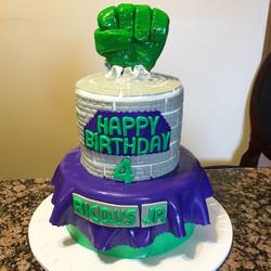 Instagram - Incredible Hulk Cake. Www.Specialtysweetc