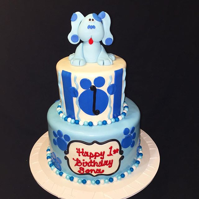 Two-tiered blues clues birthday cake. All Cake All Edible Works of Art. www.specialtysweetc