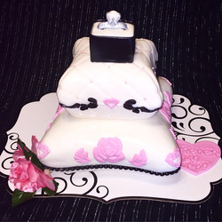Instagram - 2 tier Engagement Ring Pillow Cake. Www.specialtysweetc