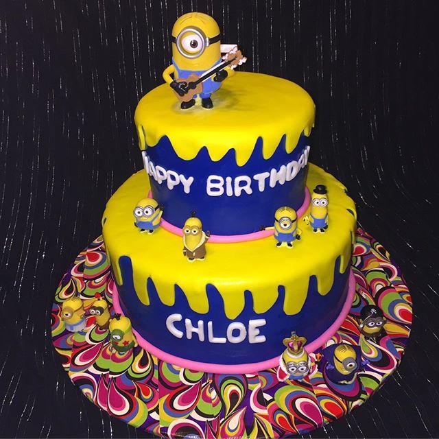 Instagram - 2 tiered Minions Birthday Cake. Www.Specialtysweetc