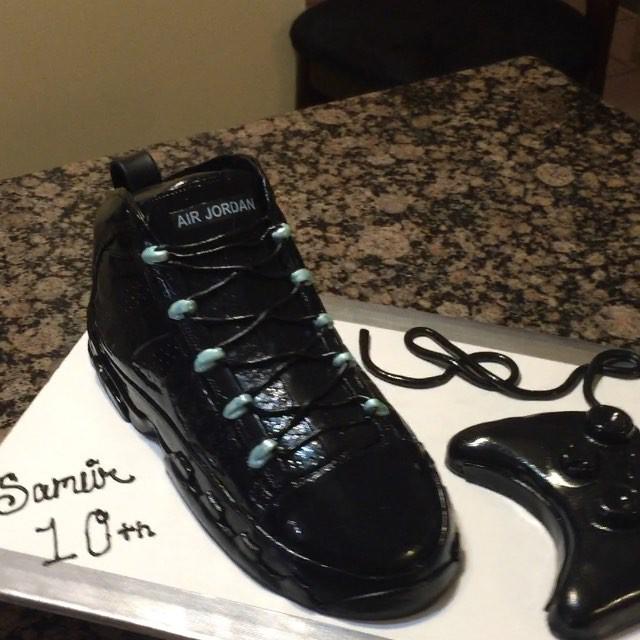 Instagram - New  Jordan Retro 9 Shoe Cake. All Cake All Edible Works of Art. www.specialtysweetc