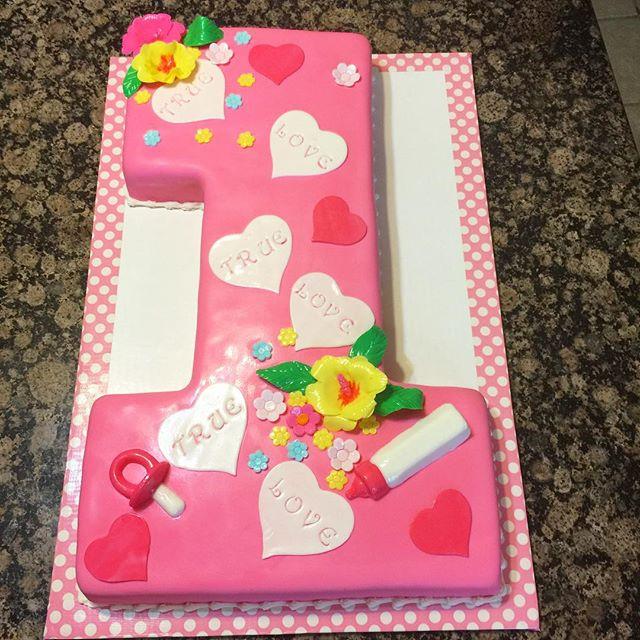 Instagram - #1 Shaped first birthday cake. Www.Specialtysweetc