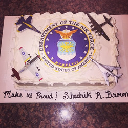 Instagram - Best wishes going away Air Force a Sheet Cake. Www.specialtysweetc