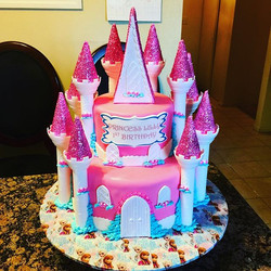Princess castle cake. Www.Specialtysweetc