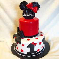 Instagram - 2 tiered Minnie Mouse Cake. Www.Specialtysweetc