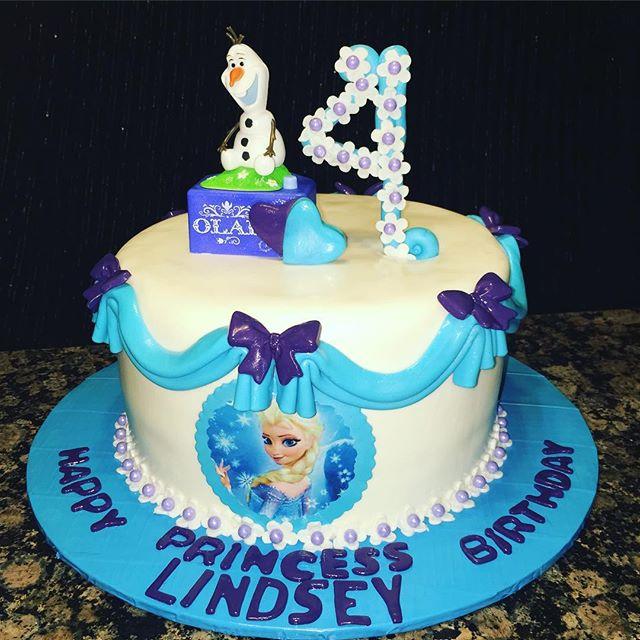 Instagram - 1 tiered Frozen Cake. Www.Specialtysweetc