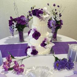 4 tiered iced wedding cake. Www.Specialtysweetc