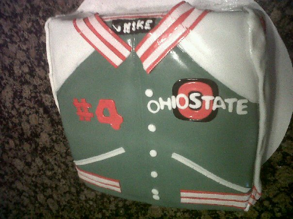 OSU Lettermans Jacket cake