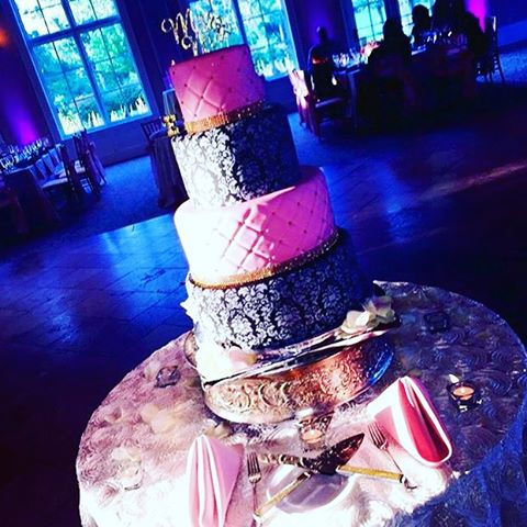 Wedding Cake in the moment!  Congratulations to the bride and groom.