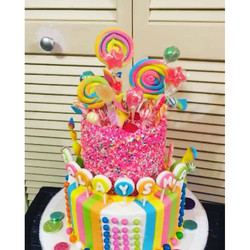 Crazy Candy cake. All Cake All Edible Works of Art. www.specialtysweetc
