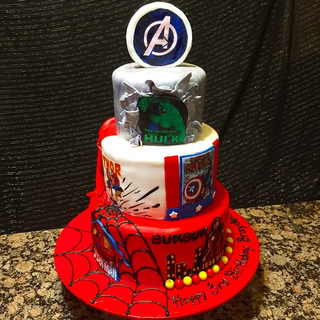 Instagram - 3 tier Avengers Super Hero Cake plus Spider-Man. Www.Specialtysweetc