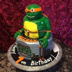 Teenage mutant Ninja turtle cake. Www.Specialtysweetc