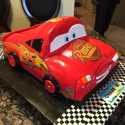 Lightning McQueen car cake Disney.  All Cake All Edible Works of Art. www.specialtysweetc