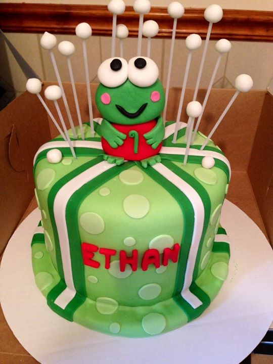 1 tier frog cake