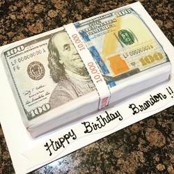 $100 money Stack Cake. Www.Specialtysweetc