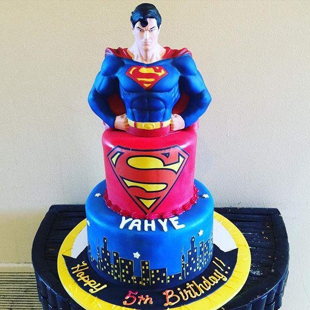 2 Tier Superman Cake. Www.Specialtysweetc