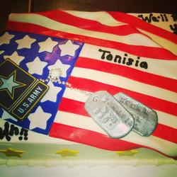 Instagram - US Army Flag cake. Www.specialtysweetc