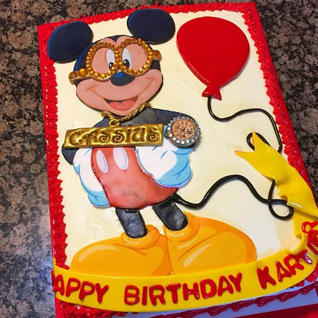 Instagram - Hip hop Mickey Mouse Cake. Www.Specialtysweetc
