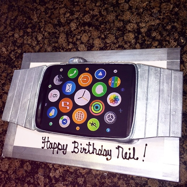Instagram - I Phone Watch Cake. Www.specialtysweetc