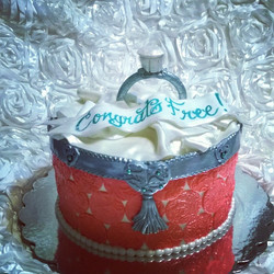 Instagram - Engagement ring bridal shower cake. Www.specialtysweetc