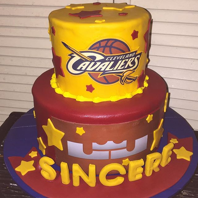Cleveland Cavaliers Lebron James Cake. All Cake All Edible Works of Art. www.specialtysweetc