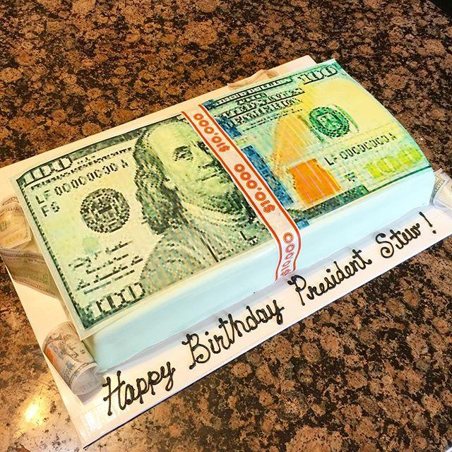 Instagram - Stack of new $100 cake. Www.Specialtysweetc