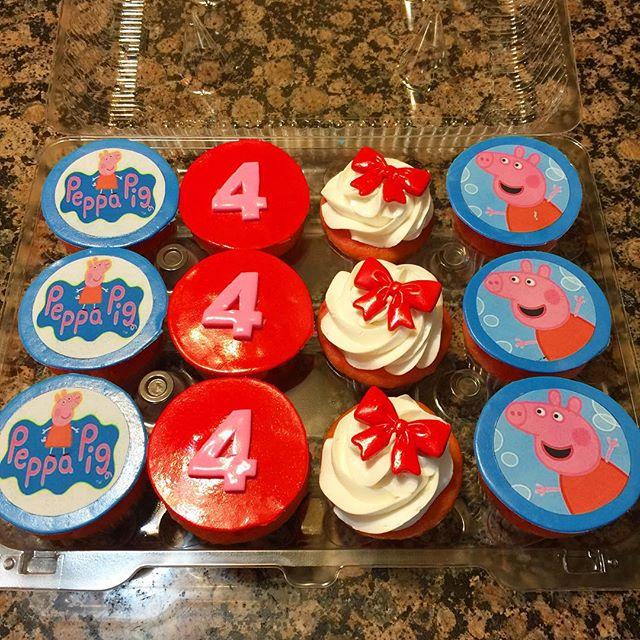 Peppa Pig Cupcakes. Www.Specialtysweetc