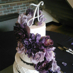 4 tier purple bling wedding cake