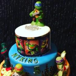 Ninja turtle cake. Www.Specialtysweetc