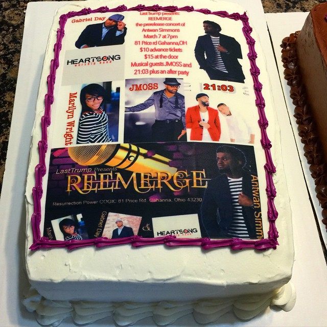 Instagram - Concert celebration sheet cake. Www.specialtysweetc