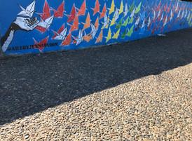 Bondi Beach Graffiti Wall - The story of 1000 cranes