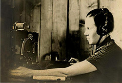 М.Е. на рабочем месте село Бестях Жиганского ра-на 1955г.