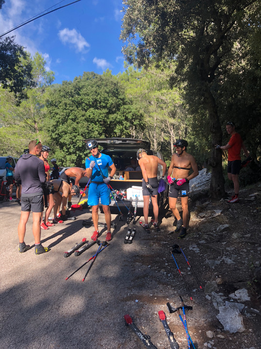 Refreshments in the top of the mountain pass